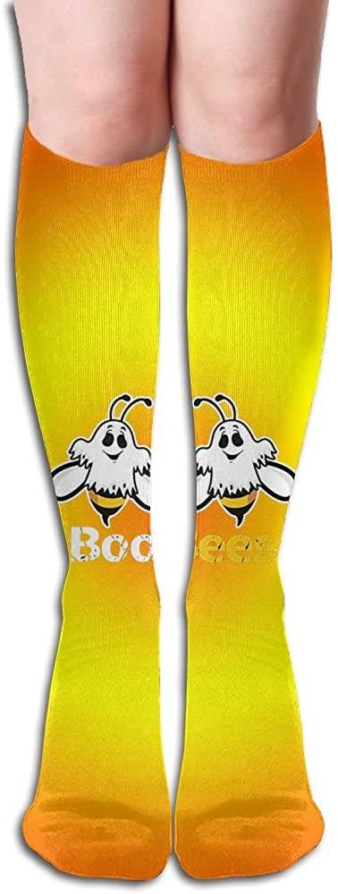 LzVong Orange Boo Bees Ghost Womens Long Knee High Socks Dresses Casual Stockings