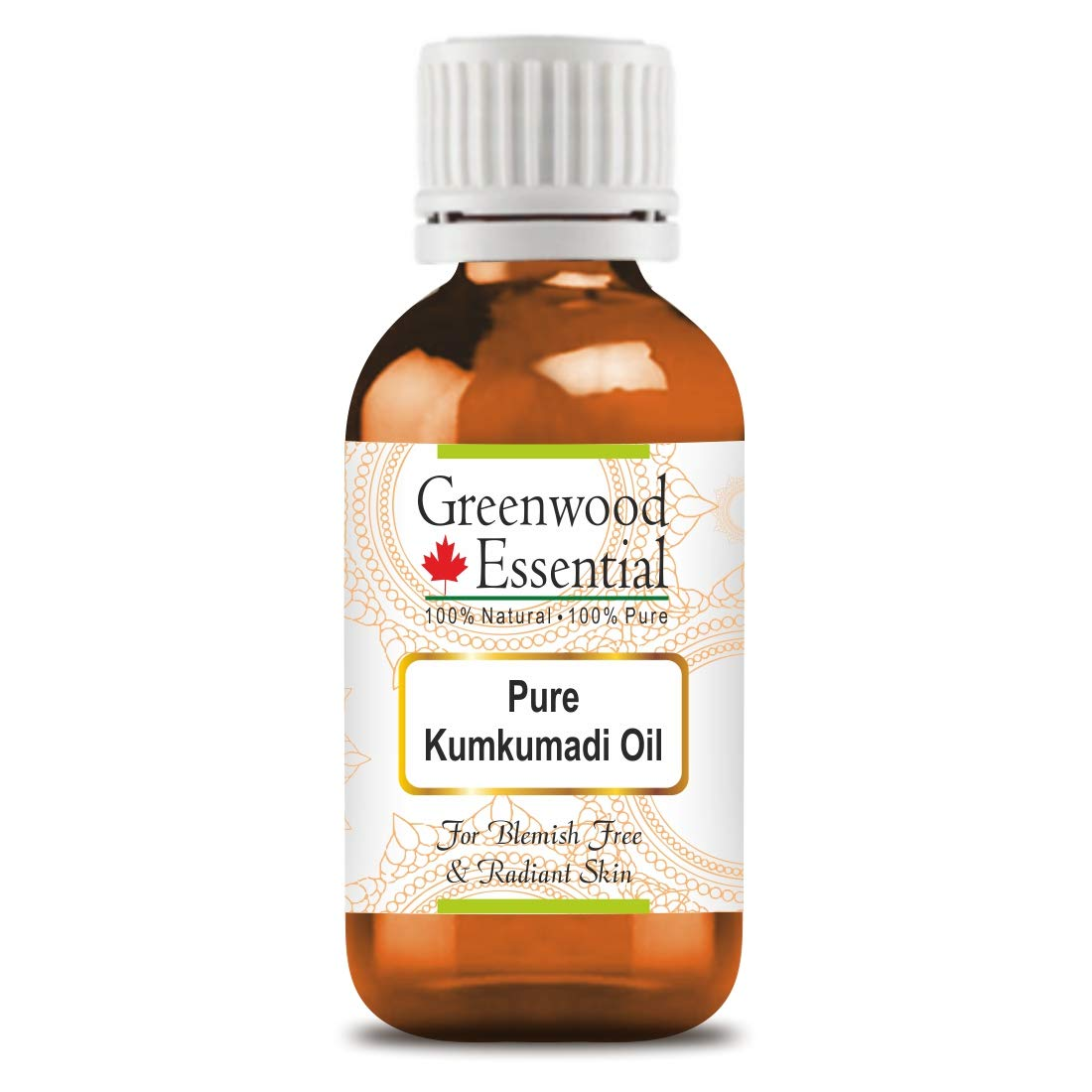 Greenwood Essential Pure Kumkumadi Oil For Blemishes Free and Radiant Skin 2 X 100ml (Pack of Two) (6.76 oz)