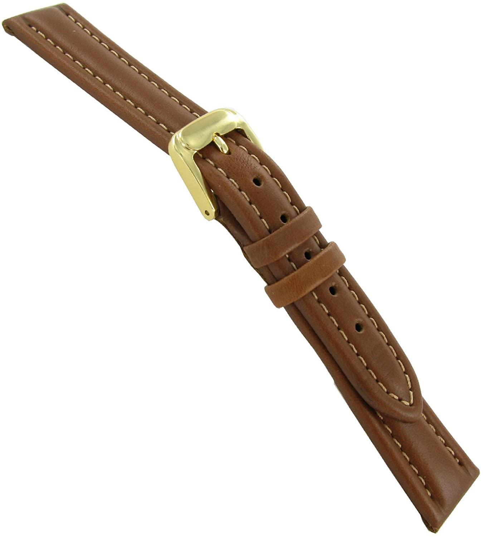 12mm Speidel Water Resistant Bounty Leather Tan Brown Watch Band Strap Regular
