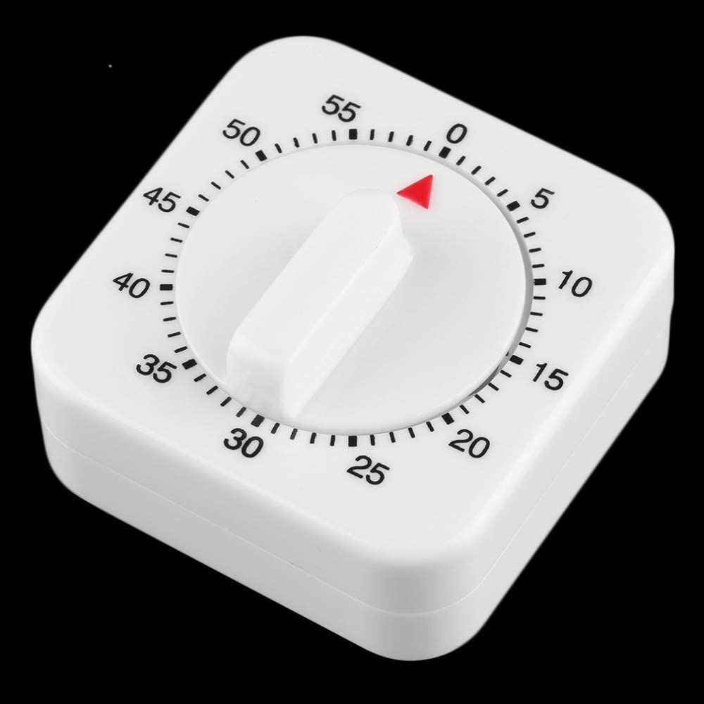 QWERTOUR 1Pc Plastic 60 Minute Mechanical Kitchen Cooking Timer Food Preparation Baking Alarm Clock Cooking Tool