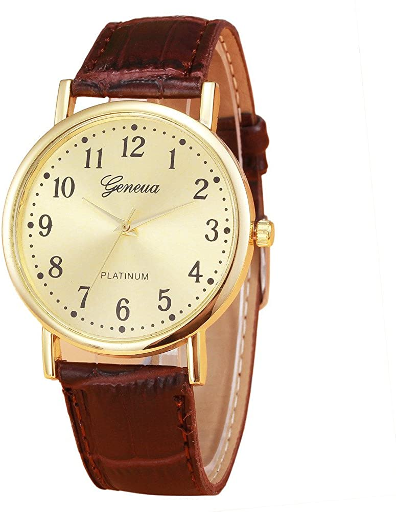 Women Watches Quartz Analog Leather Band Wrist Watches Lady Fashion Casual Bracelet Watch for Women A081