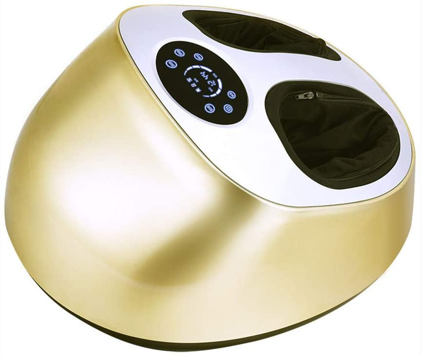 ZMXZMQ Shiatsu Foot Massager Machine with Air Compression, Infrared Hyperthermia, Relieve Feet Pain from Plantar Fasciitis, Improve Sleep,Gold
