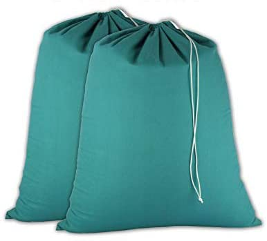COTTON CRAFT - 2 Pack Extra Large 100% Cotton Heavy Duty Laundry Bags - Assorted Colors - 28