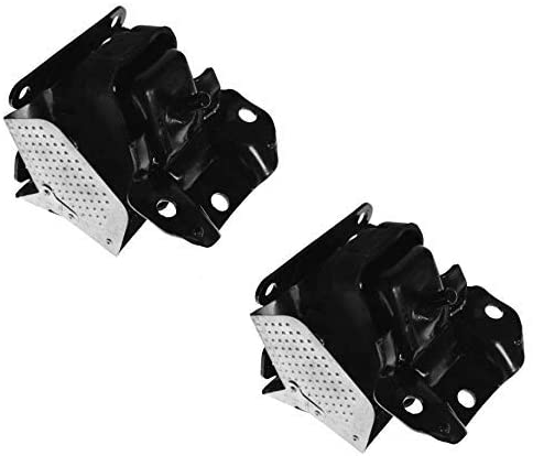 Engine Motor Mount Set (Front L+R Mounts) with Brackets Replacement for Cadillac Chevy GMC