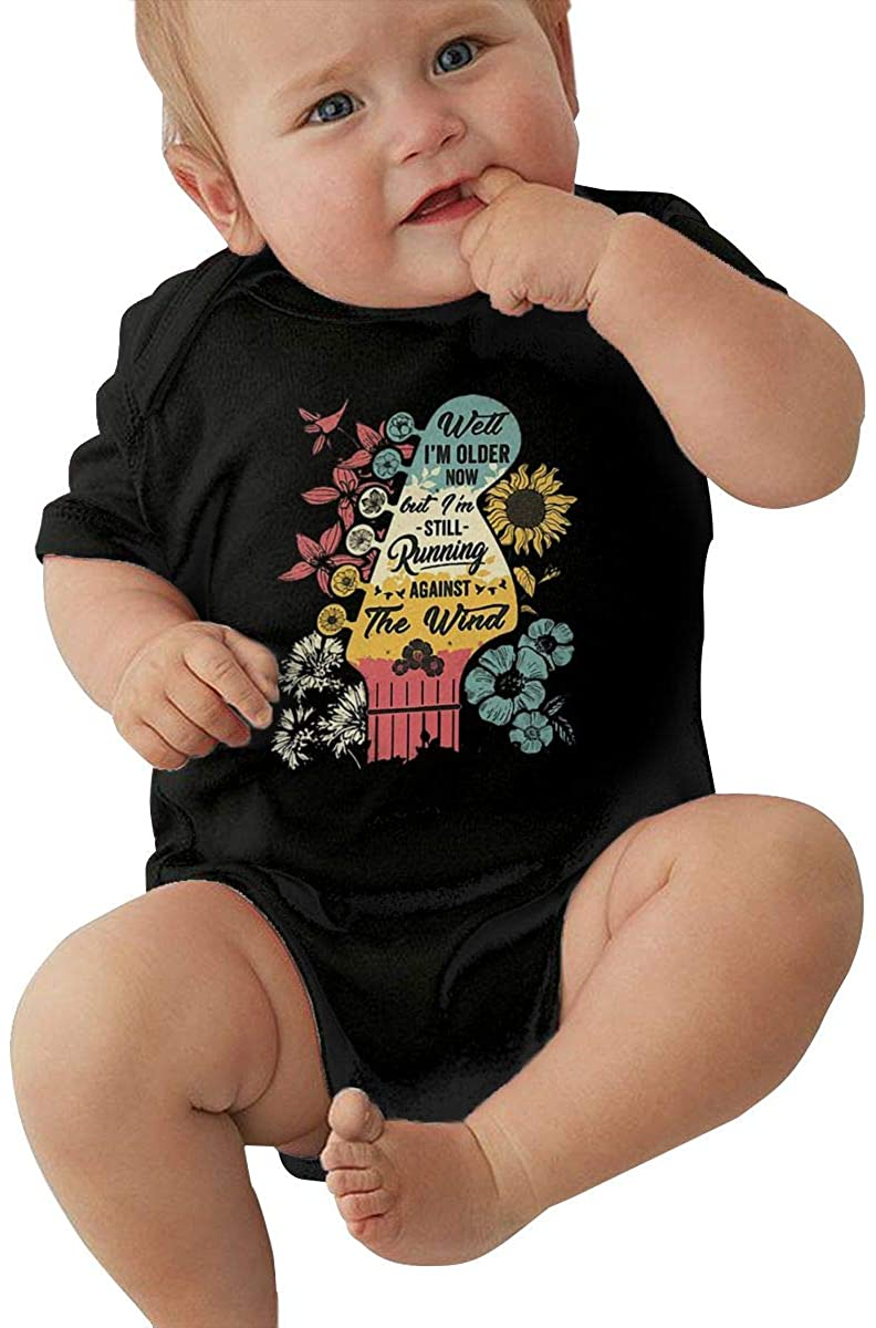 Well Im Older Now But Im Still Running Against The Wind Baby Romper Humorous Baby Baby Suit