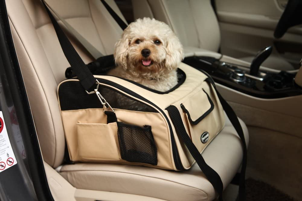 Fashion Shop Car Seat Carrier for Dog Cat Safety Lookout Booster Seat 4 Color for Choose