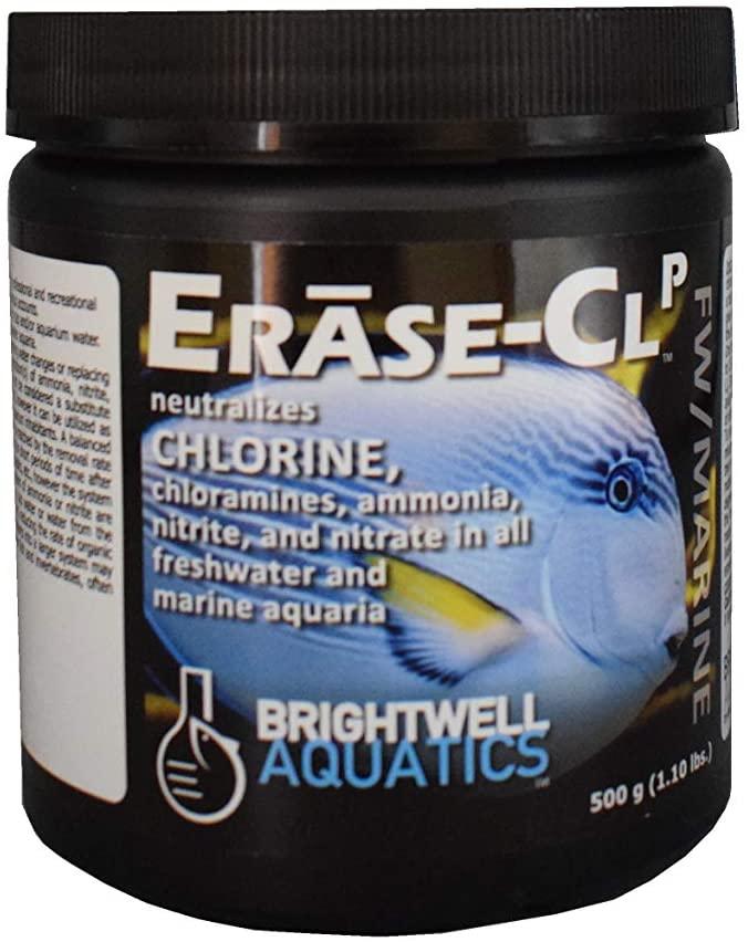 Brightwell Aquatics Erase CL P - Neutralizes Chlorine, Chloramines, Ammonia, Nitrite & Nitrate in Freshwater & Marine Aquariums