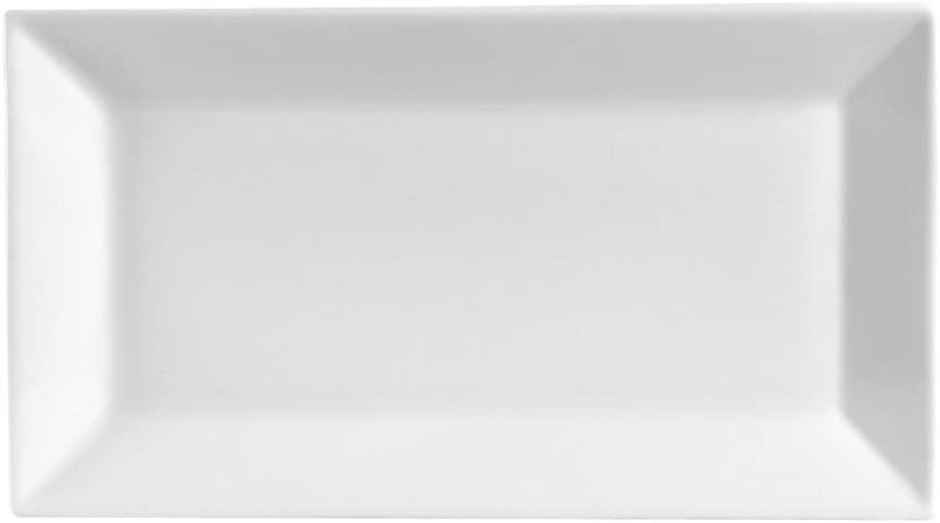 CAC China KSE-14 Kingsquare Porcelain Rectangular Platter, 13
