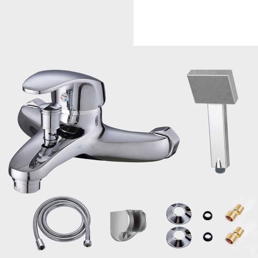 Copper Bathtub/Hot and Cold Shower Faucet/Simple Shower Bath-F