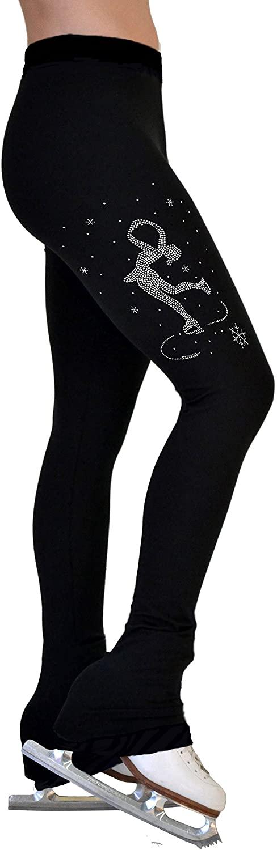 ChloeNoel P86 - Crystal Vintage Figure Skating Pants Lay Back Spin Skater Adult Large