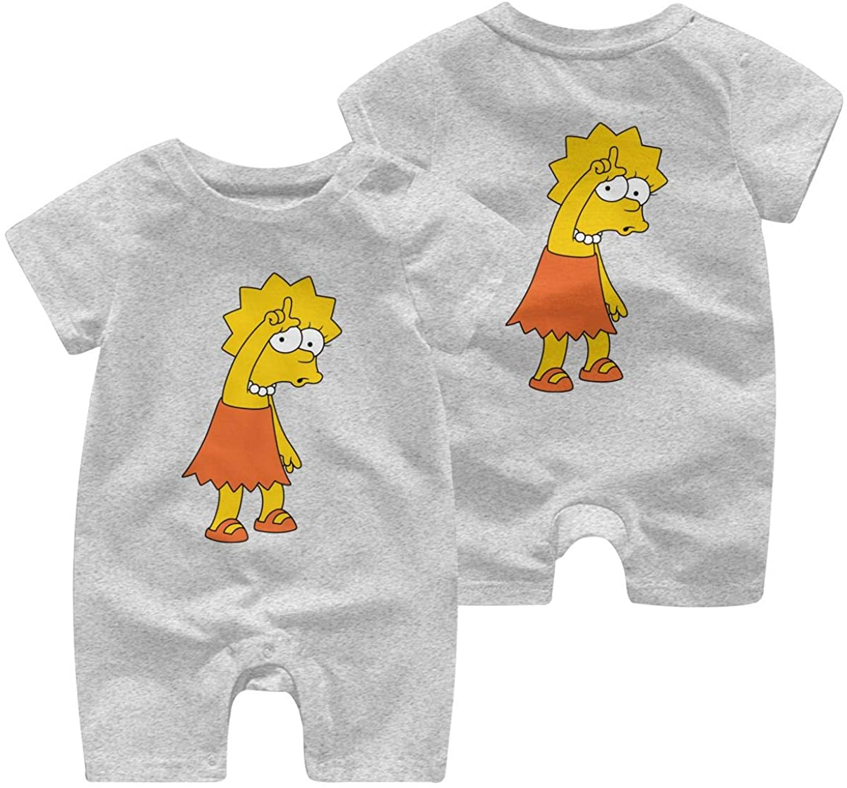 The Simpsons Krusty The Clown Comfortable Baby Short Sleeve Jumpsuit Kid Baby Pajama Sleeper Cotton Romper
