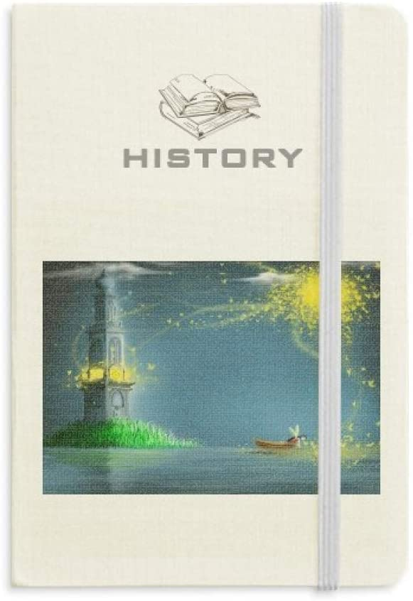 Silent Night Lighthouse Fairy Fuying Painting History Notebook Classic Journal Diary A5