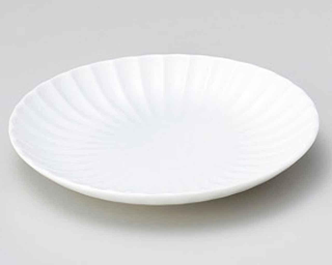 Shiragiku 5inch Set of 5 Small Plates White porcelain Made in Japan