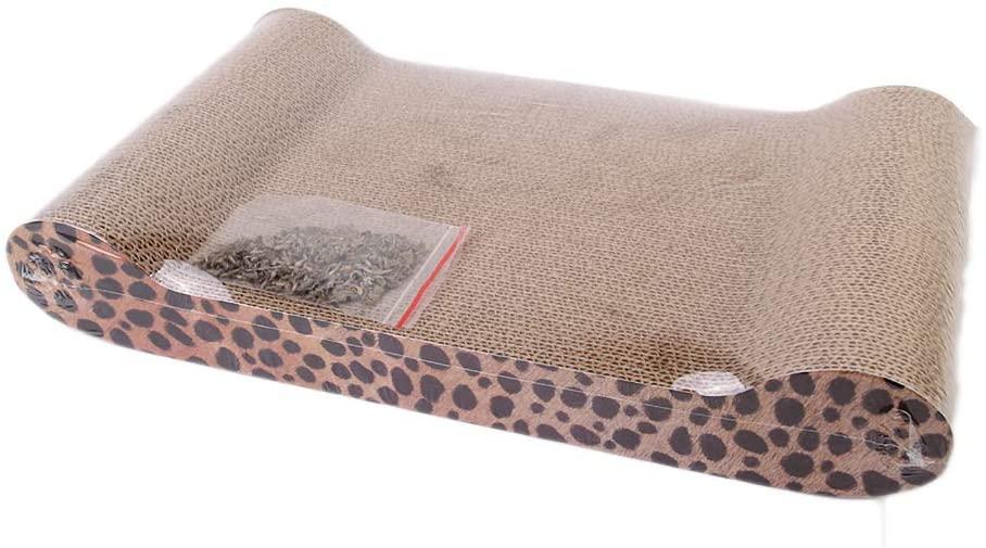 Pet Corrugated Paper cat Scratch Board Leopard cat Toy cat Paper nest cat Supplies Claw Claw Board Sofa,L