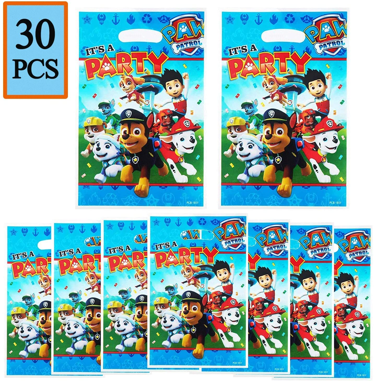 30 PCS PAW Dog Patrol Cute Party Gift Bags, PAW Dog Patrol Candies Bags Party Supplies for Kids Cute Dog Themed Party, Birthday Party Favors PAW Dog Patrol Goodie Bags for Girls or Boys
