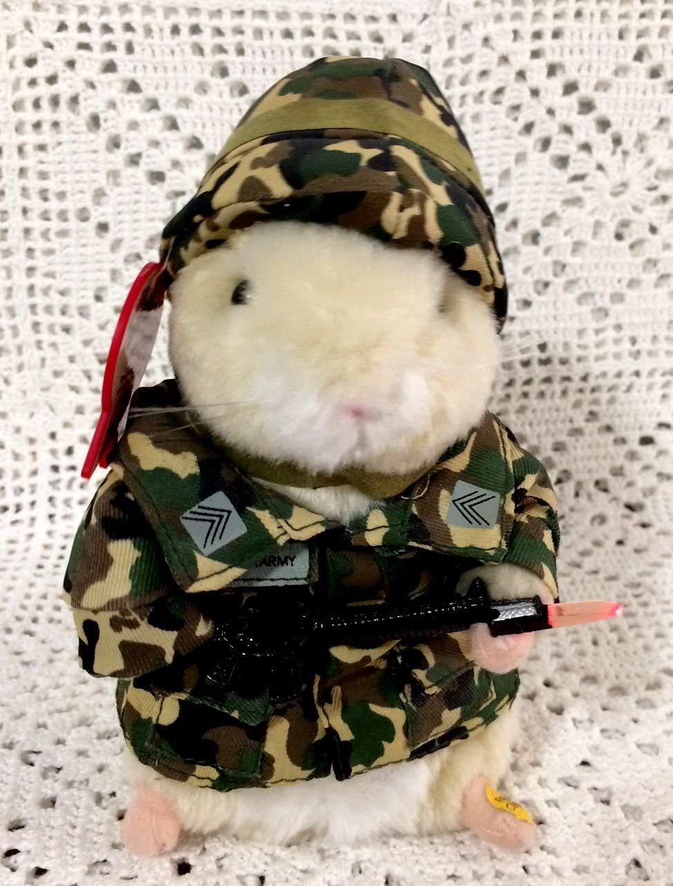 Sgt Scruffy US Army dancing hamster by Gemmy