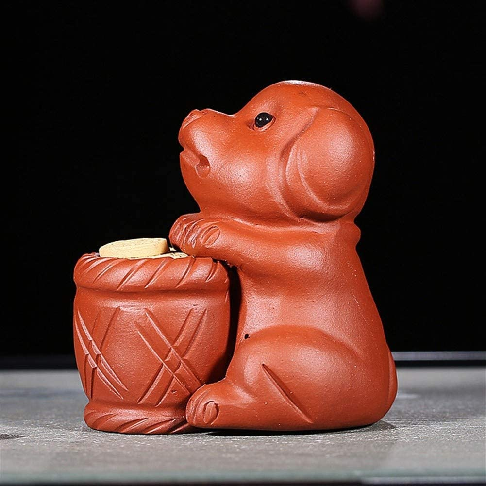 SHENLIJUAN purple clay ore fine crafts purple clay sculpture tea/tea segment mud puppy pet (Color : Purple mud)