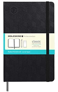 NeoLab N Water Repellent Hardcover Moleskin Notebook for use with Neopen N2 or M1 Smartpen for Writing, Sketching, Journaling - 240 Pages, 5.1 x 8.3 in. (Black)
