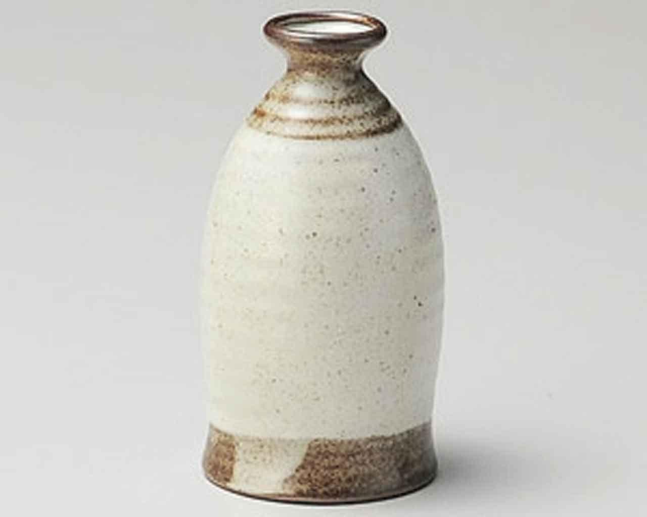 Kobiki Karatsu 2.8inch Sake carafe Beige Ceramic Made in Japan