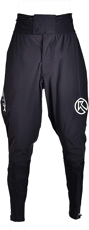 Kinetik Black Storm Waterproof Lightweight Breathable Athletic Pants for Cycling Running Hiking Men