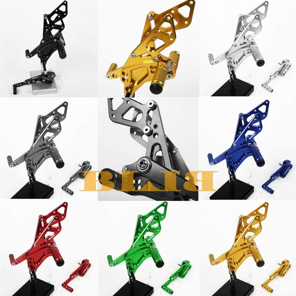 Frames & Fittings for Suzuki GSXR 1000 GSXR1000 2009-2016 CNC Foot Pegs Rearsets Rear Sets Brake Shift Motorcycle 2015 2014 2013 2012 2011 2010 - (Color: Green)