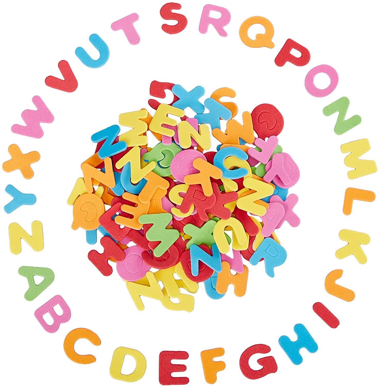 Juvale Foam Letter Stickers - 1300-Piece Self-Adhesive Foam Letters, 0.87 x 1-Inch Foam Alphabet, for Kids DIY Craft, Multicolored