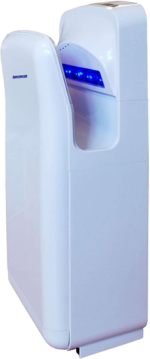 Hand Dryer 1900 Watts High Speed Automatic Plastic Durable Infrared (White)
