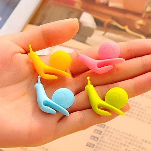 Coffee& Tea Supplies 10 PCS Cute Snail Shape Silicone Tea Bag Holder Cup Mug Hanging Tool Tea Tools Random Color Delivery