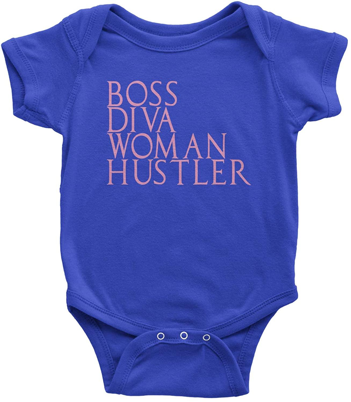 Expression Tees Boss Diva Woman Hustler Infant One-Piece Romper Bodysuit