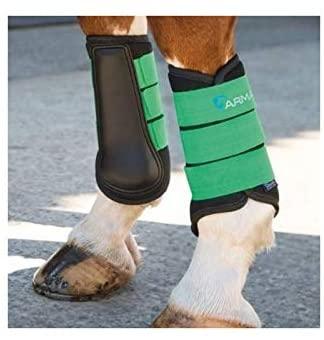 Shires Equestrian Horse Equine Arma Neoprene X-Full Green Brushing Boots