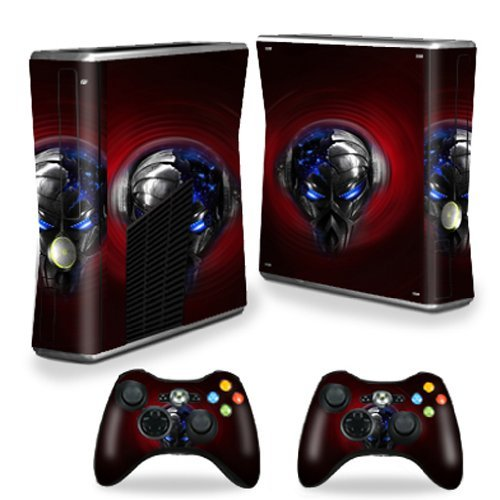 Mightyskins Protective Vinyl Skin Decal Cover for Microsoft Xbox 360 S Slim + 2 Controller skins wrap sticker skins Beat Bot by MightySkins