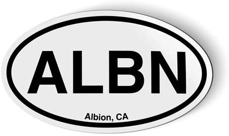 Stickers & Tees ALBN Albion California Oval - Car Magnet - 5