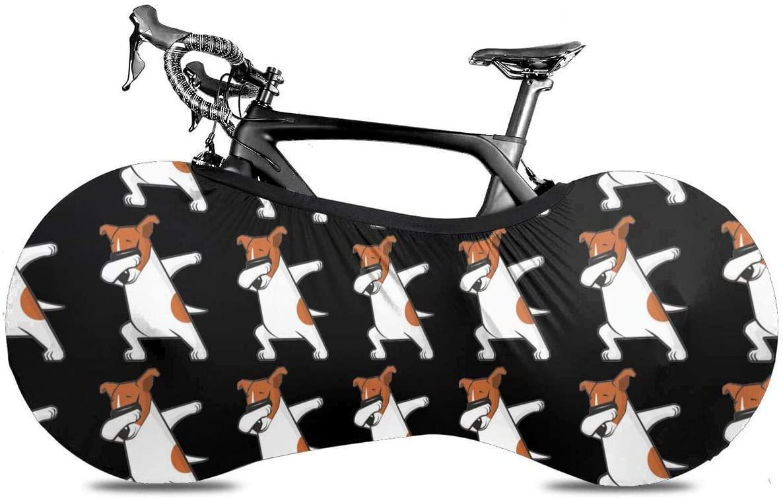 KLQ Cartoon Dog Digital Clip Art Bike Dust Cover Bicycle Wheel Protective Case