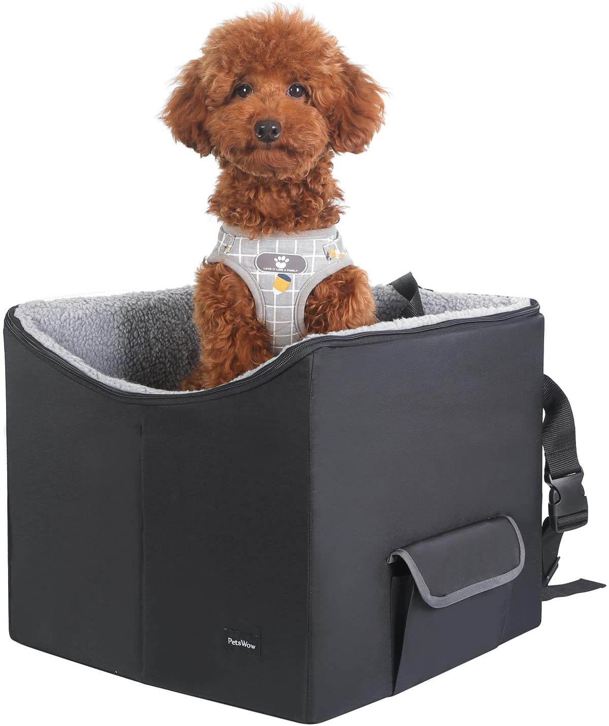 PetsWow Pet Booster Seat Lookout Dog Car Seat Safety Vehicles Bed