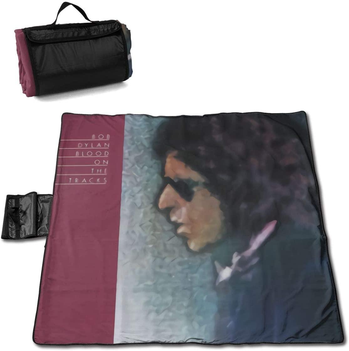 Fulu Bob Dylan Blood On The Tracks Portable Printed Picnic Blanket Waterproof 59x57(in)