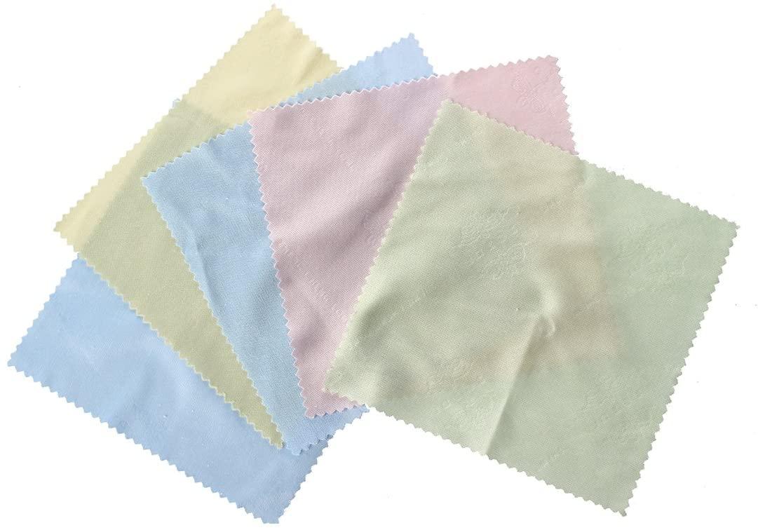 5 x Superfine Fibre Square with lace Clean Glasses Cloth