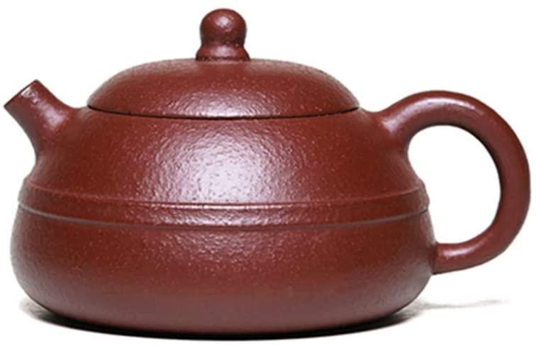 QinMei Zhou Ore teapot famous handmade purple clay teapot tea lane and a half months (Color : Purple mud)