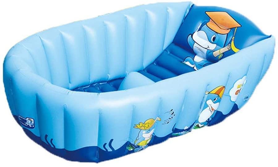 chefenstyBaby Inflatable Bath Tub Newborn Swimming Pool Portable Infant Shower Bathtub