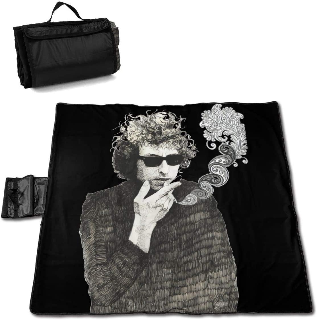 Zcm Bo-B Dylan Funny Portable Printed Picnic Blanket Waterproof 59x57(in)