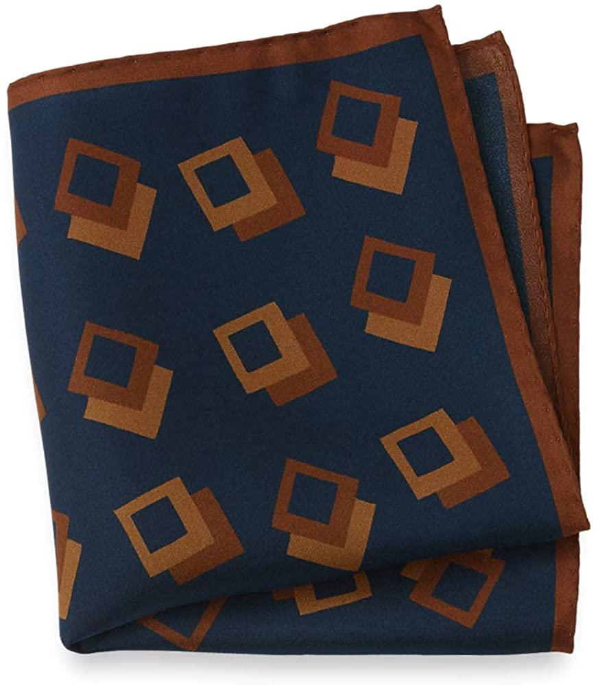 Paul Fredrick Mens Geometric Silk Pocket Square