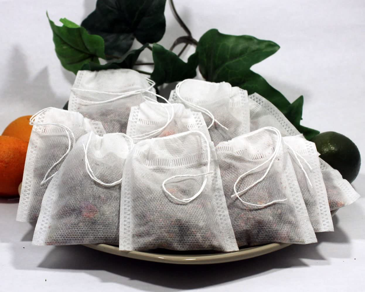Empty Woven Style Draw String Tea Bags 2.75 X 3.5 (100 Pack)