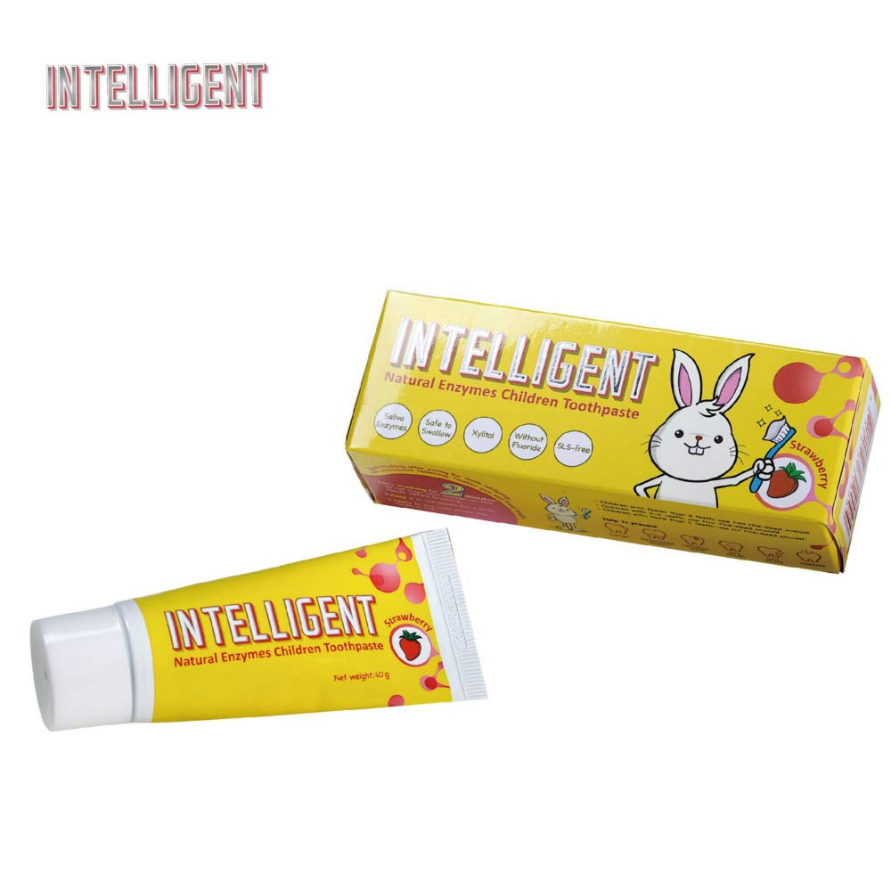 2019 New Intelligent Saliva Enzymes Baby Toothpaste Without Fluoride Swallowed Safe Remove Dark Spots Plaque Stains Tartar Teeth