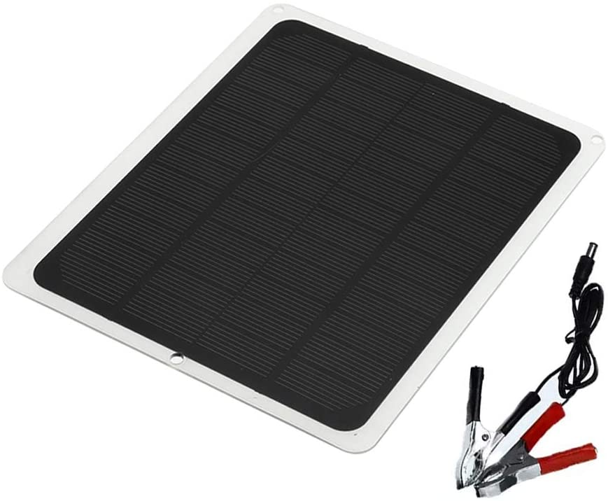 minansostey10W12V Flexible Polycrystalline Solar Panel Kit Outdoor Emergency Electric Board