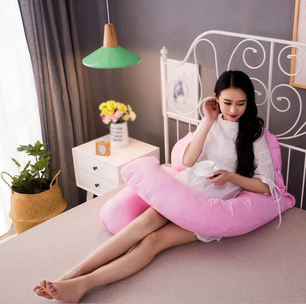 MQYH U-Type Pregnant Women Pillow Multi-Functional Pregnant Women Breast Pillow Pregnant Women Nursing Belly Pillow Maternity Pregnancy Support Sleep With Removable Cover Pillow 160 80 22 , F