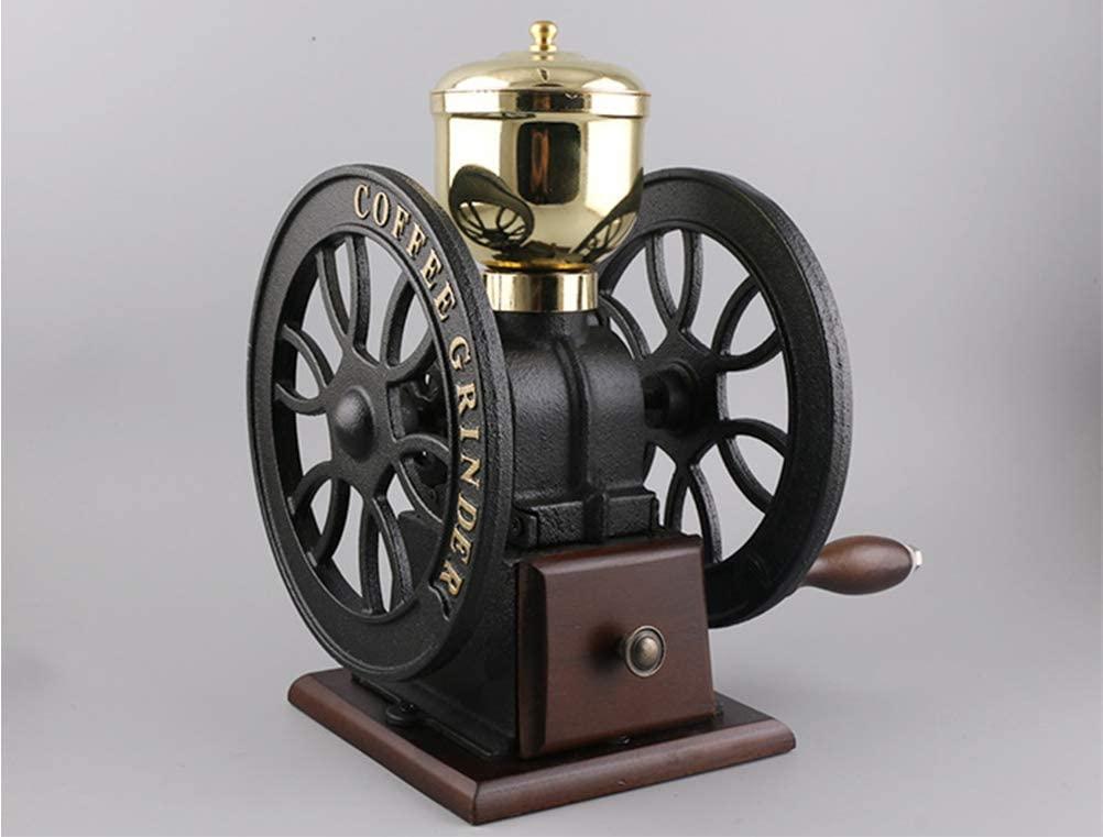 Retro Ferris wheel Coffee machine ceramic hand grinder coffee bean grinder Maker for Home Brewing,Brown
