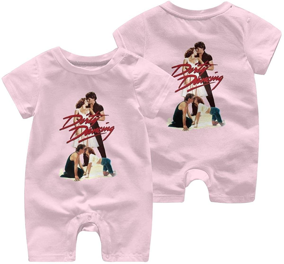 Qwtykeertyi Dirty Dancing Comfortable Baby Short Sleeve Jumpsuit Kid Baby Pajama Sleeper Cotton Romper