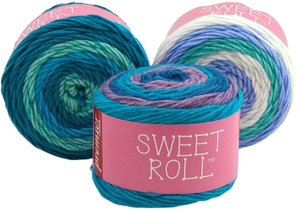 Premier Yarns 1047-02 Sweet Roll Yarn-Blueberry Swirl