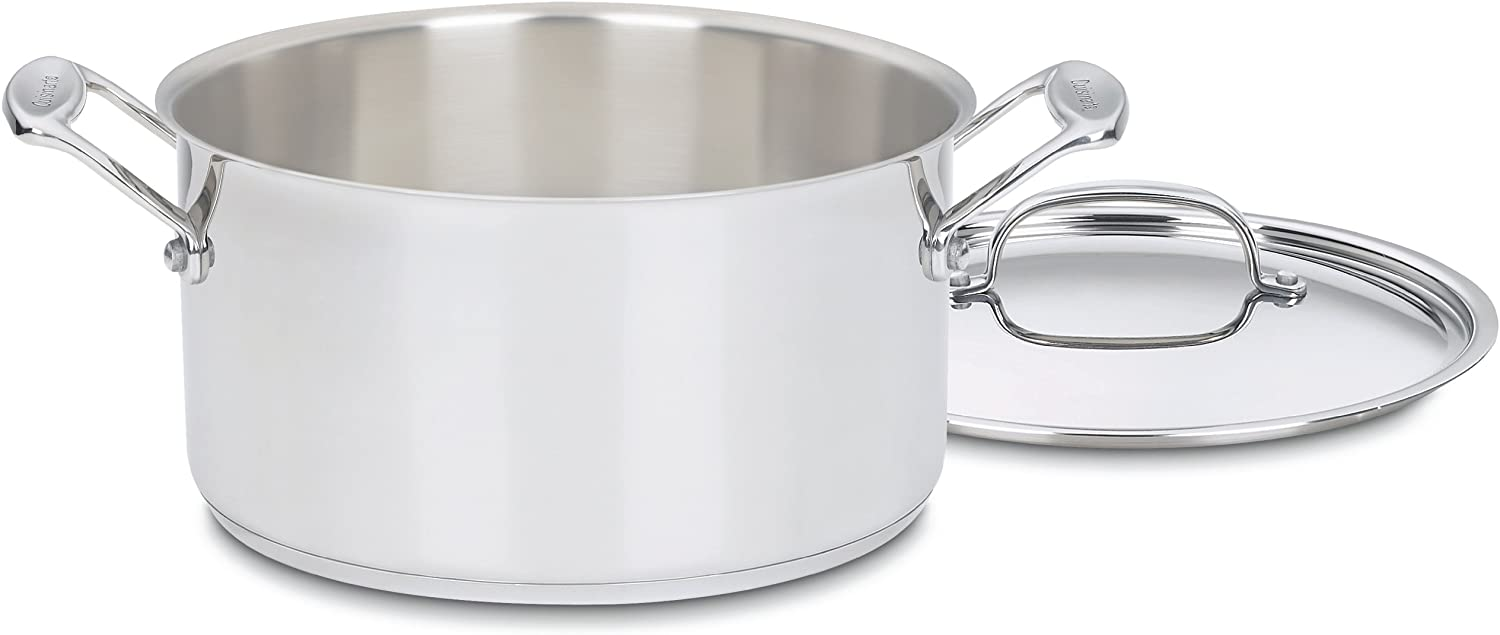 Cuisinart 744-24 Chef's Classic Stainless Stockpot with Cover, 6-Quart,Silver