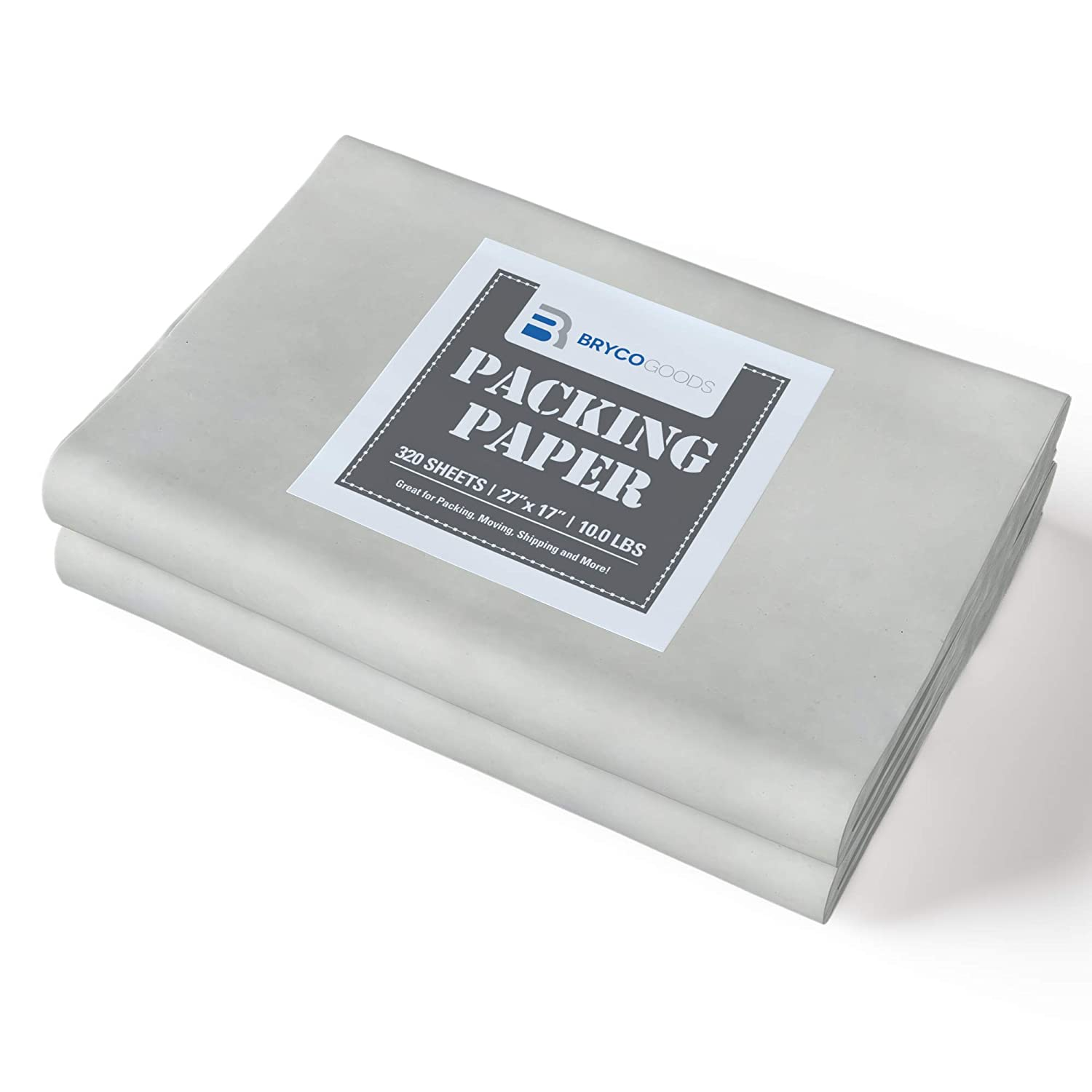 Packing Paper Sheets for Moving - 10lb - 320 Sheets of Newsprint Paper - Must Have in Your Moving Supplies - 27