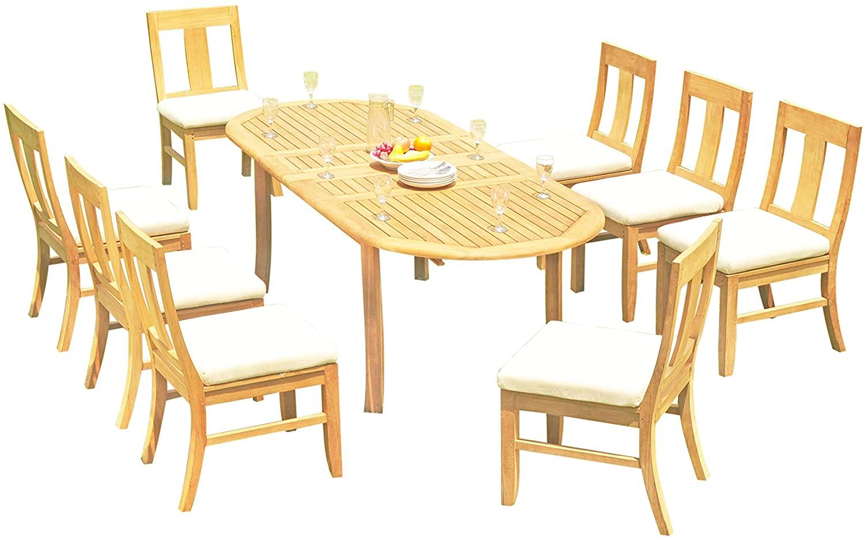 11-pc Outdoor Teak Dining Set: 94